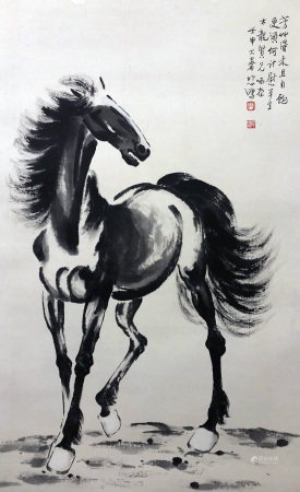 徐悲鸿 骏马图