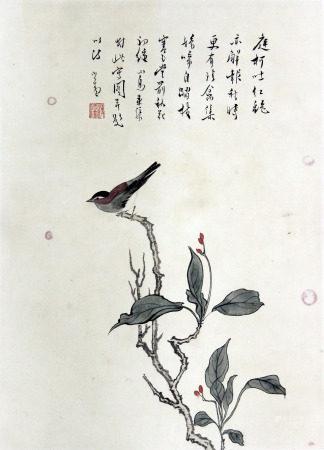 溥儒 花鸟