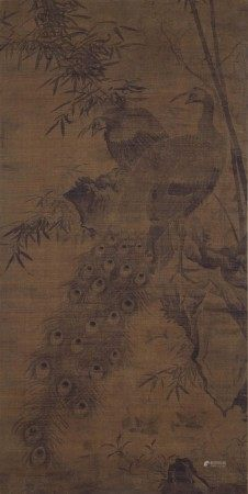 林良 竹石双雀