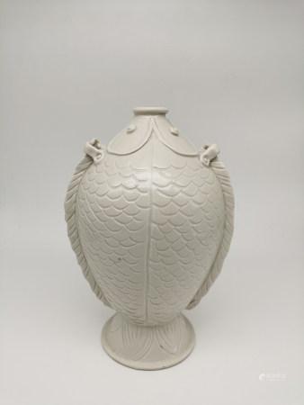 Chinese Ding Wave Porcelain Bottle