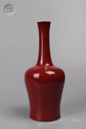 Chinese Red Glazed Porcelain Vessel
