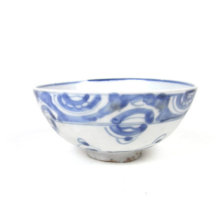 A Chinese blue & white porcelain bowl, probably late Ming period