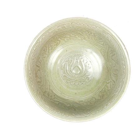 A Chinese celadon glazed bowl, 20th century