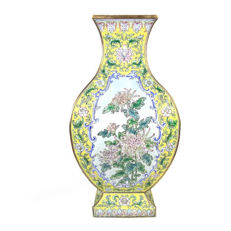 A Chinese enamelled vase