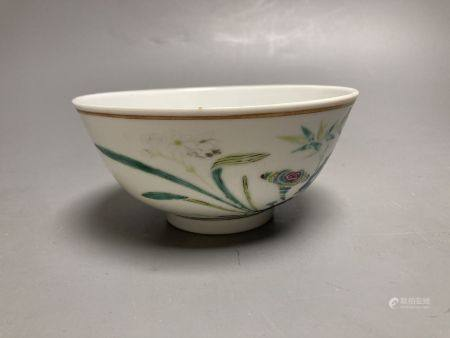 A Chinese famille rose porcelain bowl, Guangxu mark and period, 13cm diameter, 6cm highCONDITION: