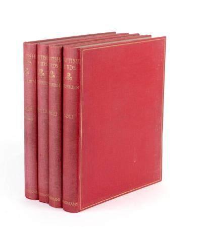 A. THORBURN, BRITISH BIRDS. VOLUMES I-IV. LONDON, LONGMANS, GREEN & CO, 1916. 4 VOL. FOUR VOLUME SE