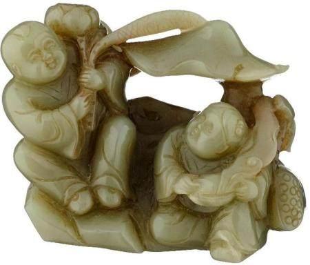 Jade Figurengruppe