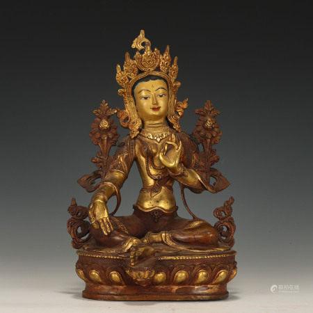 Bronze Gilt Seated Buddha