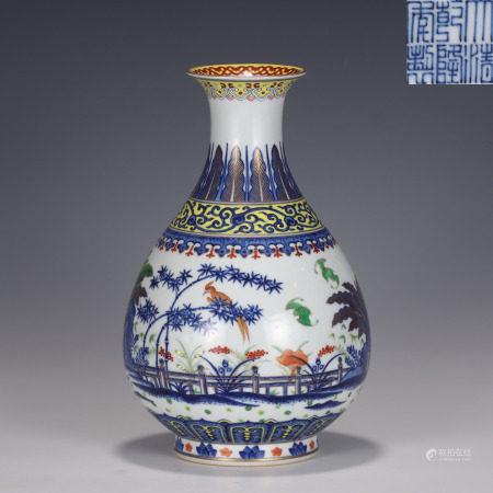 A Doucai Yuhuchunping