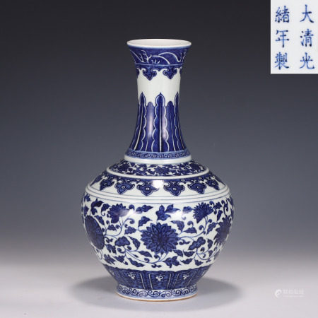 Blue and White Decorative Vase