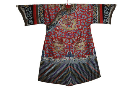 Chinese Imperial Lady's Dragon Robe Qing Dynasty