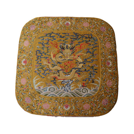Embroidered Dragon Pillow Yongzheng Period