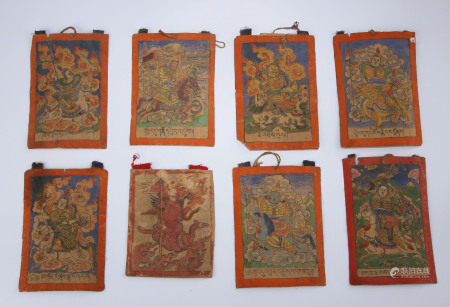 A Collection of Tibetan Thangka Qing Dynasty