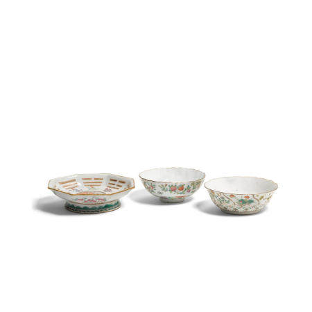 A group of three enameled bowls  Late Qing/Republic period (3)