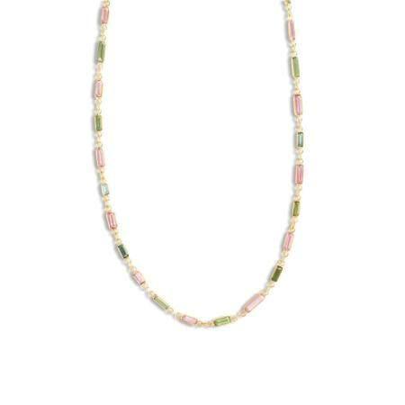 A tourmaline and eighteen karat gold necklace
