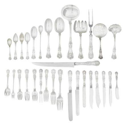 AN AMERICAN STERLING SILVER FLATWARE SERVICE by Tiffany & Co., New York, NY, 1907-1947