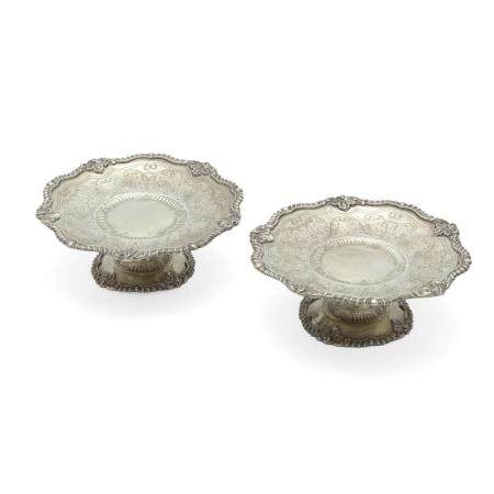 A PAIR OF AMERICAN SILVER-GILT TAZZE by Marcus & Co., New York, NY, 20th century