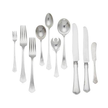 AN AMERICAN STERLING SILVER FLATWARE SERVICE by R. Wallace & Sons Manufacturing Company, Wallingford, CT, 20th century