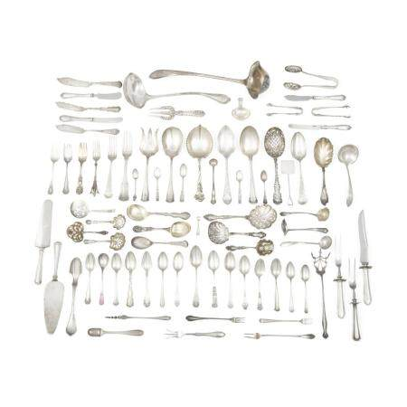 A GROUP OF AMERICAN STERLING SILVER FLATWARE by various makers