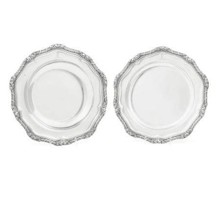 TWO GEORGE III SILVER PLATES by various makers, London, 1805-1808