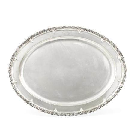 A GEORGE III SILVER OVAL TRAY by Paul Storr, London, 1797