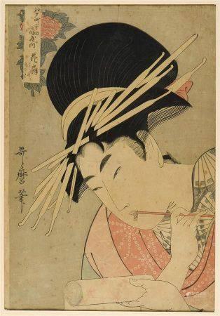 Kitagawa UTAMARO II (Mort en 1831)