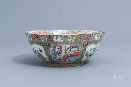 A Chinese Canton famille rose bowl, 19th C.