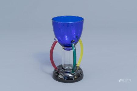 Ettore Sottsass (1917-2007): 'Deneb' Murano glass vase, for Memphis by Toso Vetri d'Arte, [1982]