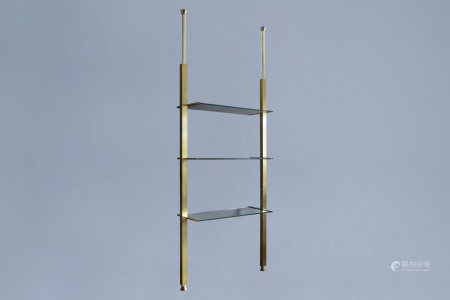A 'Penelope' design rack with glass shelves, Designteam Belgo Chrom, 1970's
