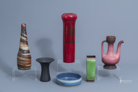 A varied collection of European studio pottery, 20th C.