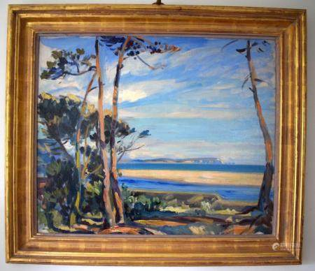 Wilfrid Gabriel De Glehn (1870-1951) British, Oil on canvas, Isle of Wight. Image 77 cm x 55 cm.