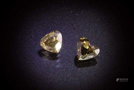 珠寶 天然變色龍GIA鑽石 1.03 克拉 天然變色龍GIA鑽石 1.06 克拉