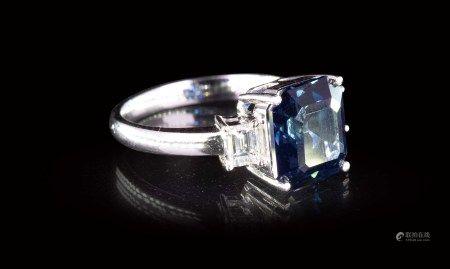 珠寶 天然無燒藍寶鑽戒