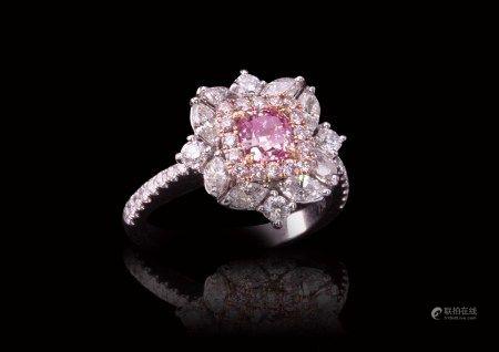 珠寶 天然 0.51 克拉GIA粉彩色鑽戒
