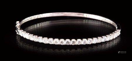 珠寶 天然鑽石 3.30 克拉手環
