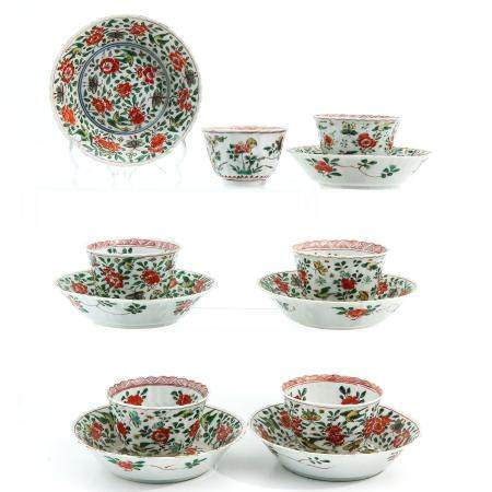 A Lot of 6 Cups and Saucers