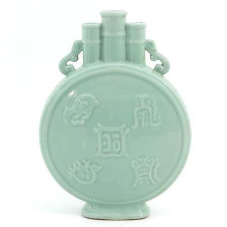 A Celadon Moon Bottle Vase