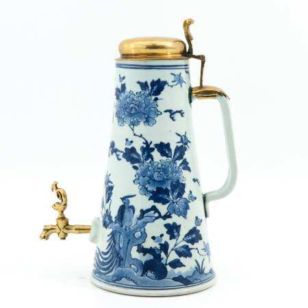 A Blue and White Decanter