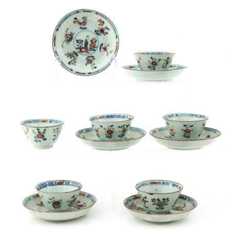 A Set of 6 Cups and Saucers