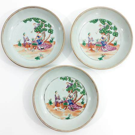 A Series of 3 Cherry Picker Decor Plates