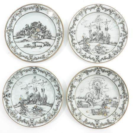A Series of 4 Encre de Chene Plates