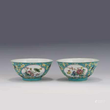 Qing Dynasty KANGXI FAMILLE ROSE FLORI PORCELAIN BOWL