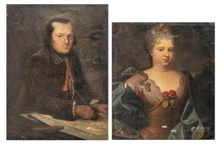 Two 18thC portraits, 62 x 71 - 62 x 82 cm