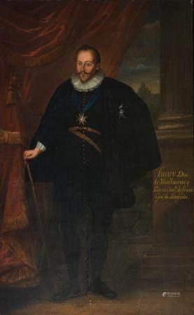 The full-length portrait of 'Henry Duc de Montmorency, Pair et Connétable de France, Gouvereur de Languedoc', 152 x 250 cm