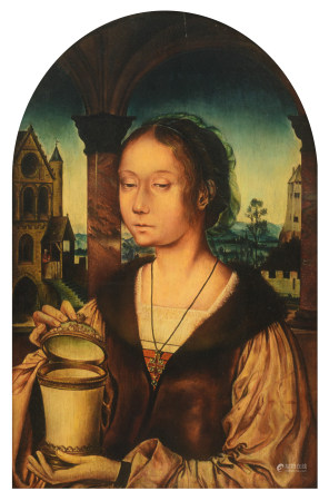 After Quentin Matsys (1466–1530), St. Mary Magdalene, 30,5 x 47 cm