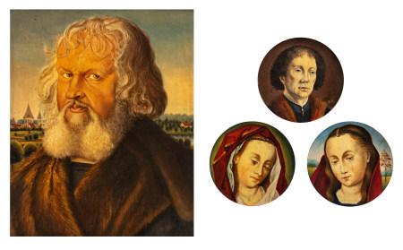 A collection of fine copies after Albrecht Dürer (1471-1528) and Hans Memling (c. 1430-1494), 13 x 17 cm - ø 6 cm