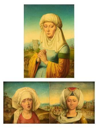 Two fine copies after Rogier van der Weyden, attributed to Gilleman, ca 1900, 2 x 25 - 13,7 x 20 cm
