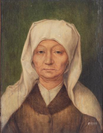 The portrait of an old woman, in the manner of Albrecht Dürer, 13,7 x 18,7 cm