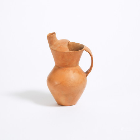 新石器时代 齐家文化 红陶盉  A Red Pottery Ewer, Qijia Culture, Neolithic Period, 2nd Millennium BC