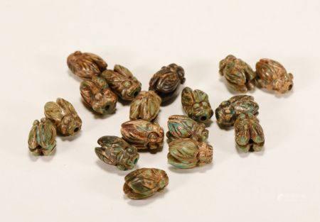 Han Dynasty - Set of Turquoise Cicada